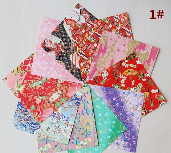 20pcs 12.5cm Japanese Yuzen Thousand Paper Origami Colored  Handmade Paper DIY 10-color Printing Paper