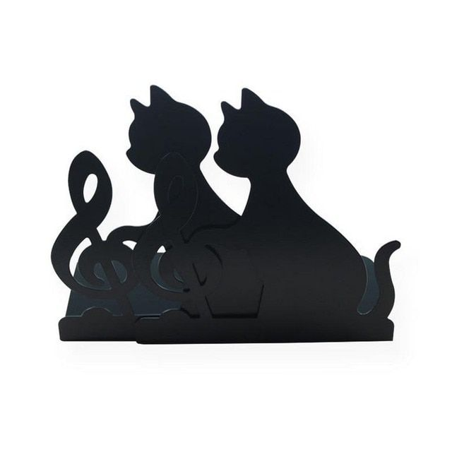 Funny Lovely Cat Note Iron Bookend Bookends Book Holder Papelaria Decorative Suporte Para Livro Office Accessories Joy Corner