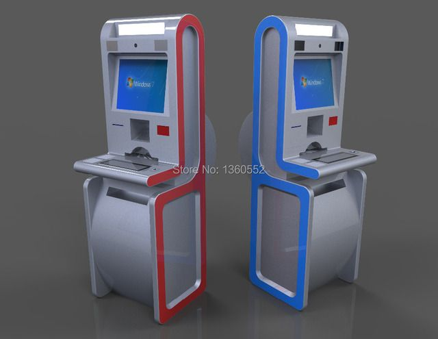 Interactive Industrial Computer within Free Standing Multi Function Self Service Payment Kiosk,touch screen Kiosk manufacturer
