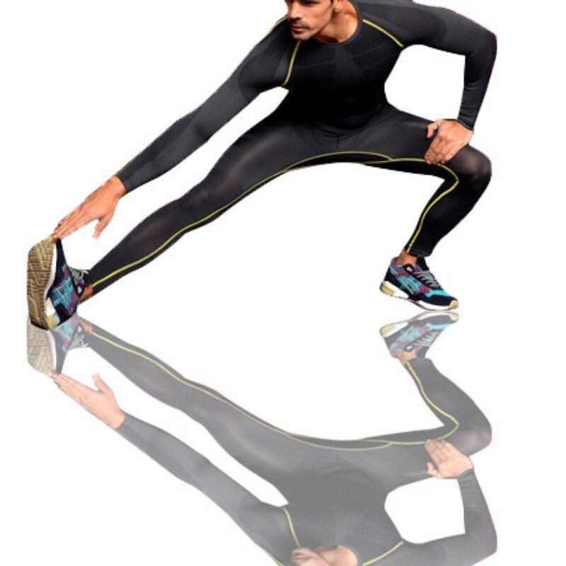 Men Athletic Pants Compression Running Training Fitness Base Layers Skin Sports Tights