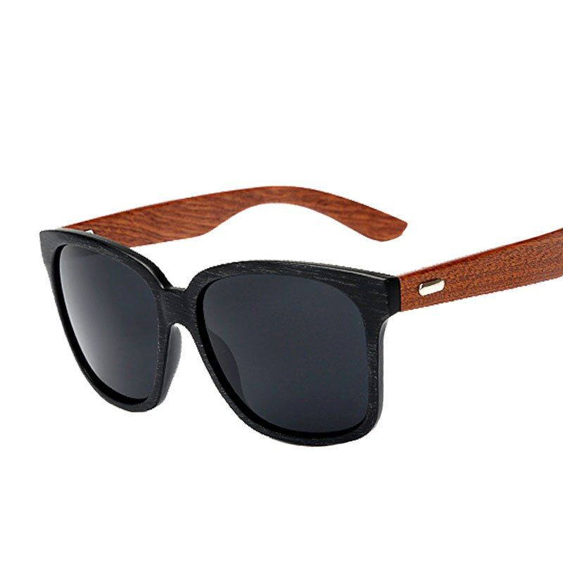 The new men's sunglasses big face black sunglasses driving mirror glasses vintage wooden leg, high-quality sunglasses