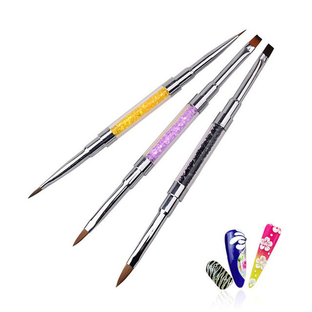 Double Head Nail Art Brush Pen Dual Head UV Gel Nail DIY Lining Painting Manicure 3 Color Dual-Tip New Arrival Sculpture Tool