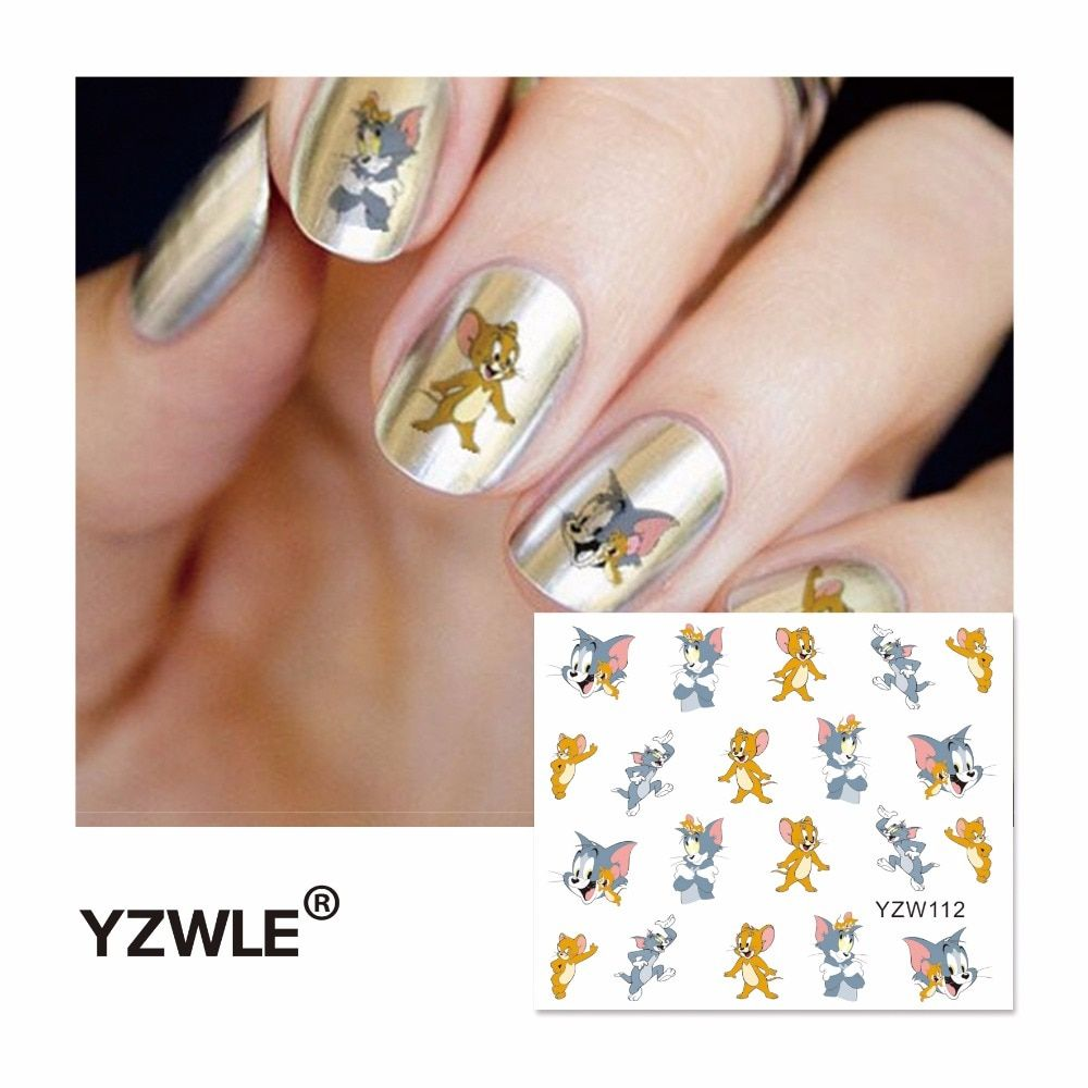 YZWLE 2019 Hot Sale Water Transfer Nails Art Sticker Manicure Decor Tool Cover Nail Wrap Decal (YZW112)