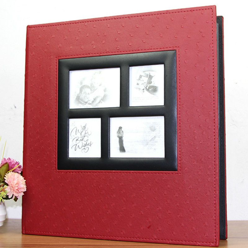 Loose-leaf Photo Album Scrapbook 600 Sheets 15.2x10.2cm Photos Albums Interleaf Type Picture Album With PU Leather Albums Cover