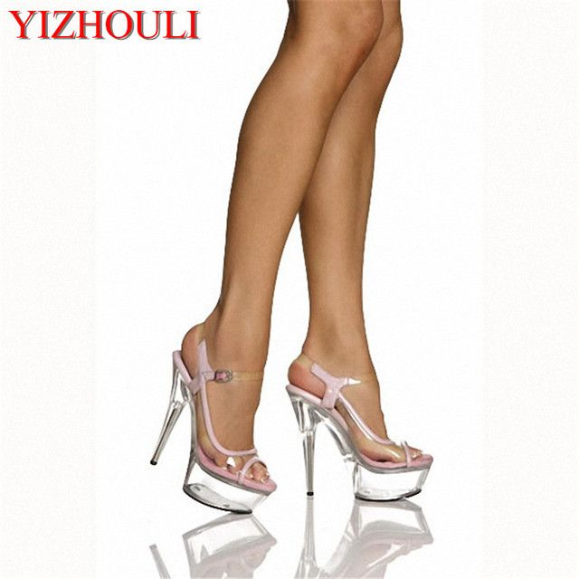6 inch sexy High Heel Shoe Fetish summer lace wedding shoes 15cm cheap high quality white rhinestone wedding heels