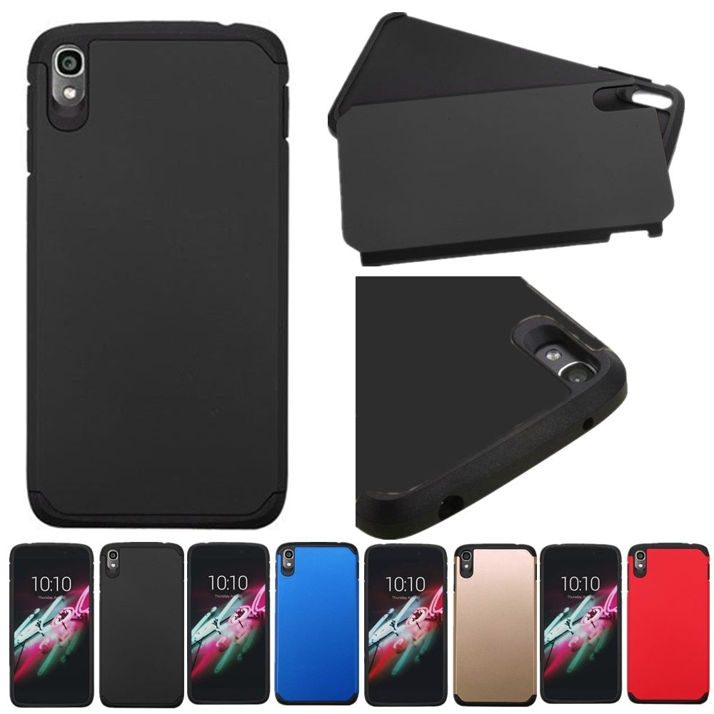 For Alcatel One Touch Idol 3 5.5 6045Y Case Hybrid TPU Plastic Shockproof Matte Heavy Duty Armor Hard Cover 6045 Cases Shell