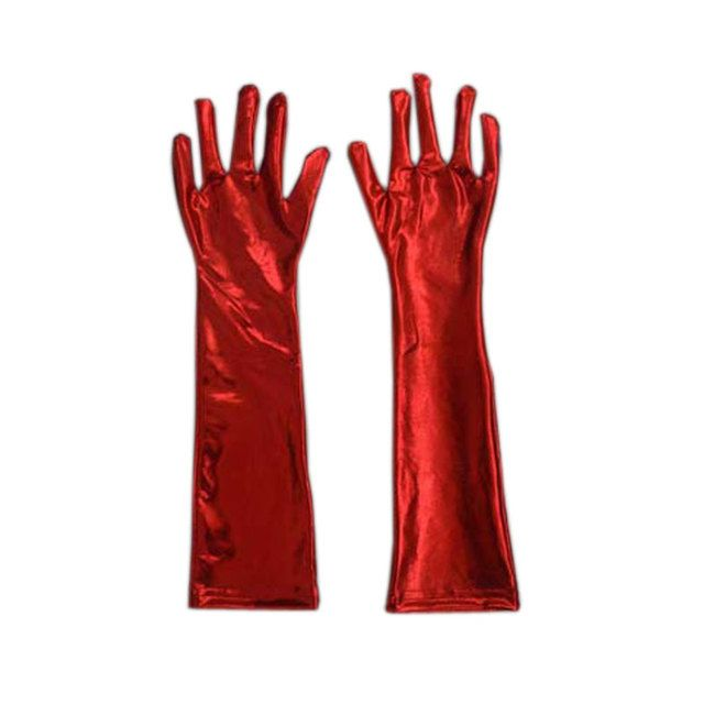 Sexy Women Glove Long Patent Leather Adult Fetish Gloves Latex Sexy Erotic Tactical Gloves Leather Gloves LB