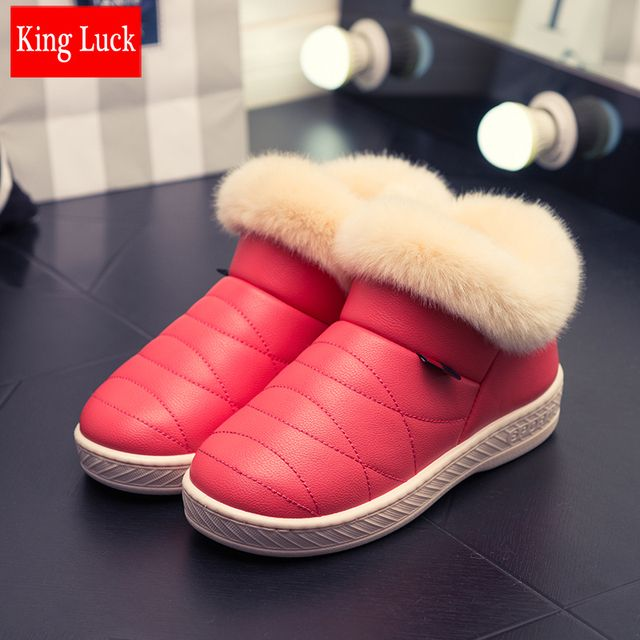 KING LUCK women men bootsankle boots platform autumn winter snow boots winter jeans shoes snowshoes 0.64KG