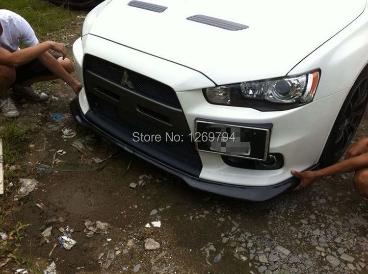Carbon Fiber  Front Bumper  Lip  Fit For  Mitsubishi Lancer Evolution EVO 10 X Of The RT Style