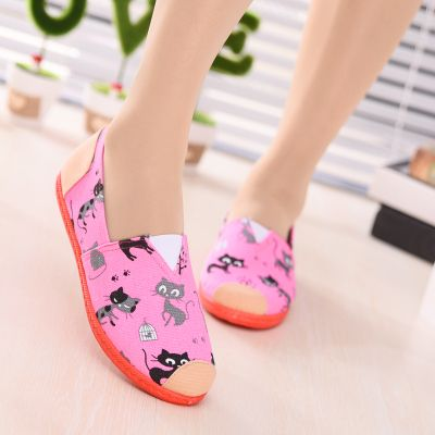 New Autumn Style Women Shoes Comfortable Casual Slip On Women's Flats Lady Loafers Canvas Flat Shoes Woman zapatos mujer