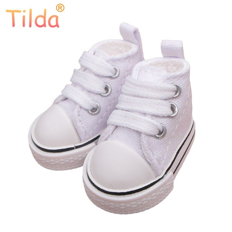 Tilda 5cm Canvas Doll Shoes 1/6 for EXO Dolls,Textile Denim 1/6 BJD Toy Shoes Bjd Snickers For KPOP Rag Dolls Accessories Toy
