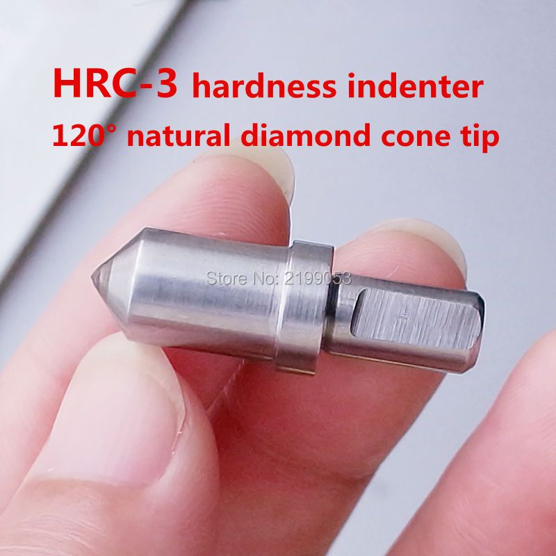 5pcs/lot HRC-3 Natural diamond cone tip hardness indenter penetrator 120 degree for rock well hardness tester machine tip use