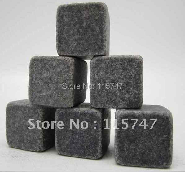 Free shipping! Whisky stones 8pcs/set in velvet bag, 1200pcs 150sets/lot, cooling wine stones, ice cube stones, Christmas gift !