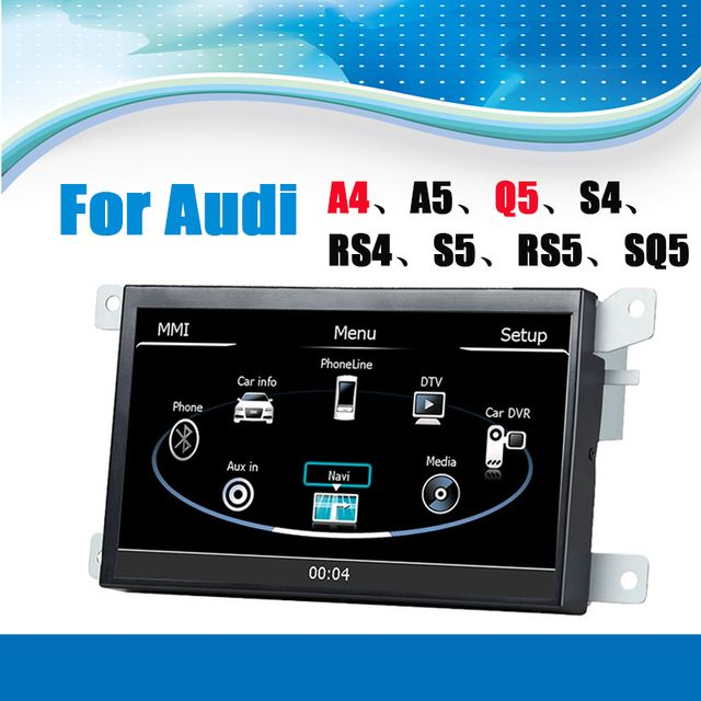For Audi A4 Car GPS Navigation System Audio Player Video System with bluetooth touchscreen support steering wheel control