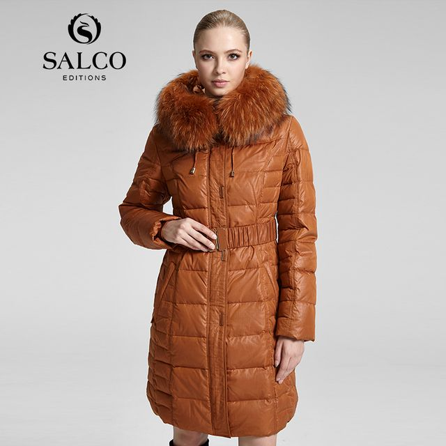 SALCO Free shipping In 2016 the new raccoon wool ms Russia's monopoly in the long hooded down jacket coat