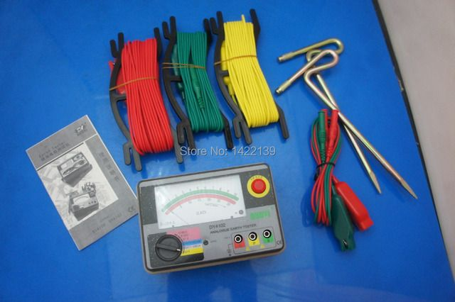 DUOYI DY4102 Multimeter Tester Electrical Instrument Analog Ground Resistance Tester Earth Tester