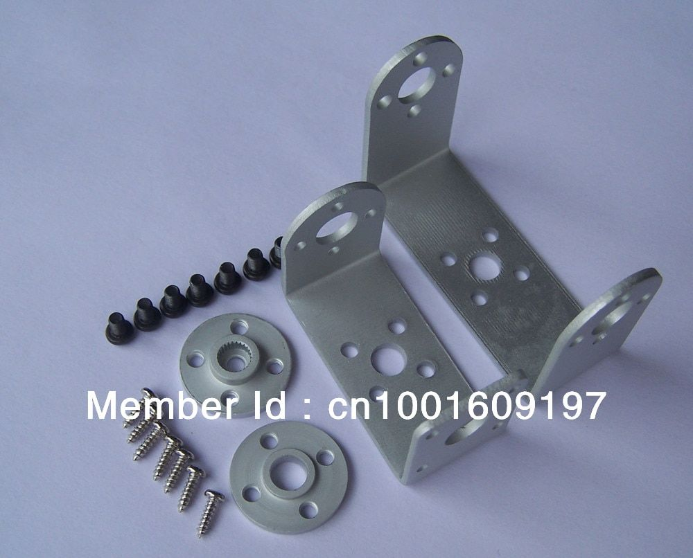 10x Robot servo brackets metal U brackets and round  servo  holder 25T