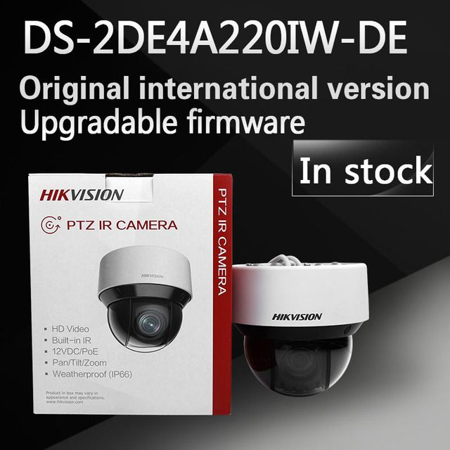In stock free shipping english version DS-2DE4A220IW-DE 2MP Network IR mini PTZ Camera 3D intelligent positioning function
