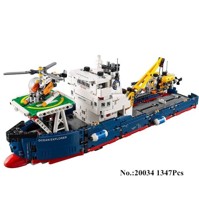 IN STOCK H&HXY 20034 1347pcs Genuine New Technic Series The Searching Ship Set  Building Blocks Bricks lepin Toys  42064