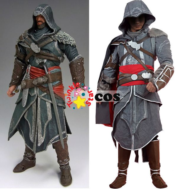 halloween costumes for adult men Assassins Creed Revelations Ezio Auditore cosplay costume