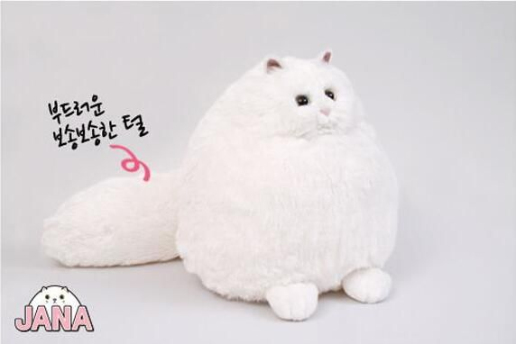 Candice guo! super cute plush toy white fat cat soft simulation Persian cat long tails stuffed doll birthday Christmas gift 1pc