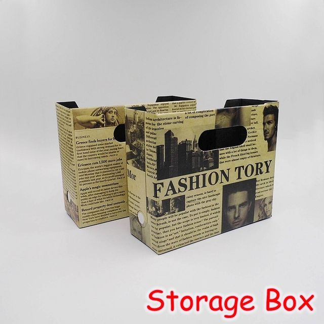 (12 Pieces/Lot) School Stationery Office Vintage DIY Desk Organizer Box / Paper Cosmetic Desktop Storage Box FRS-30
