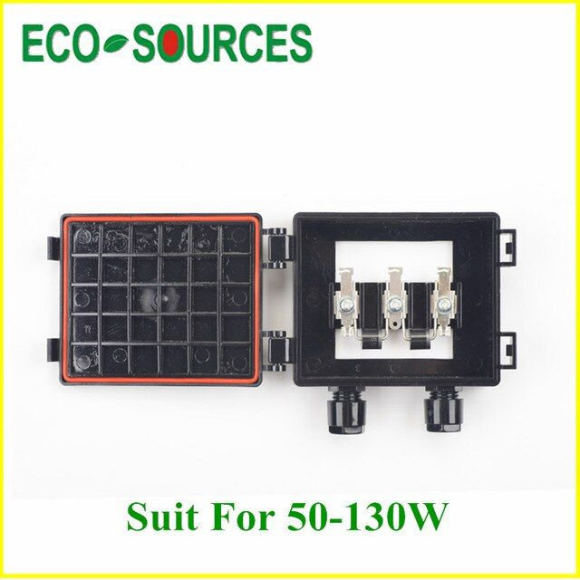 Solar Junction Box for 30W-60W Solar Panel DIY Solar Cell w/1 Hight Grade Diode