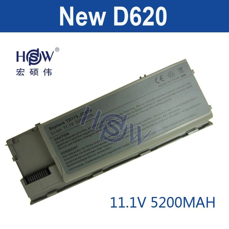 HSW Laptop Battery for Dell Latitude D620 D630 D631 M2300 KD491 KD492 KD494 KD495 NT379 PC764 PC765 PD685 RD300 TC030 battery