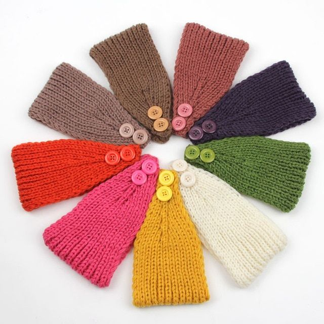 Wholesale Women Winter Headband Knit Hair band Crochet Ear Warmer Knit Headband Headwrap Women's Hair Accessories