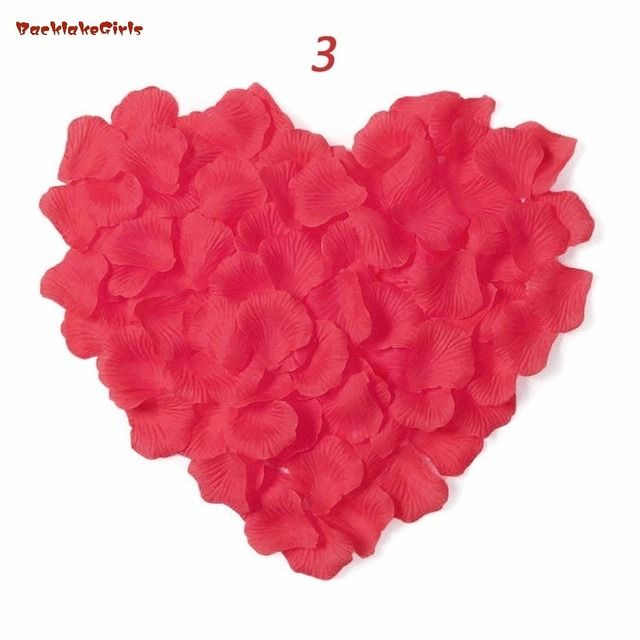 BacklakeGirls New Arrival Wholesale 2000pcs/lot Wedding Decorations romantic Artificial Flowers Polyester Wedding Rose Petals