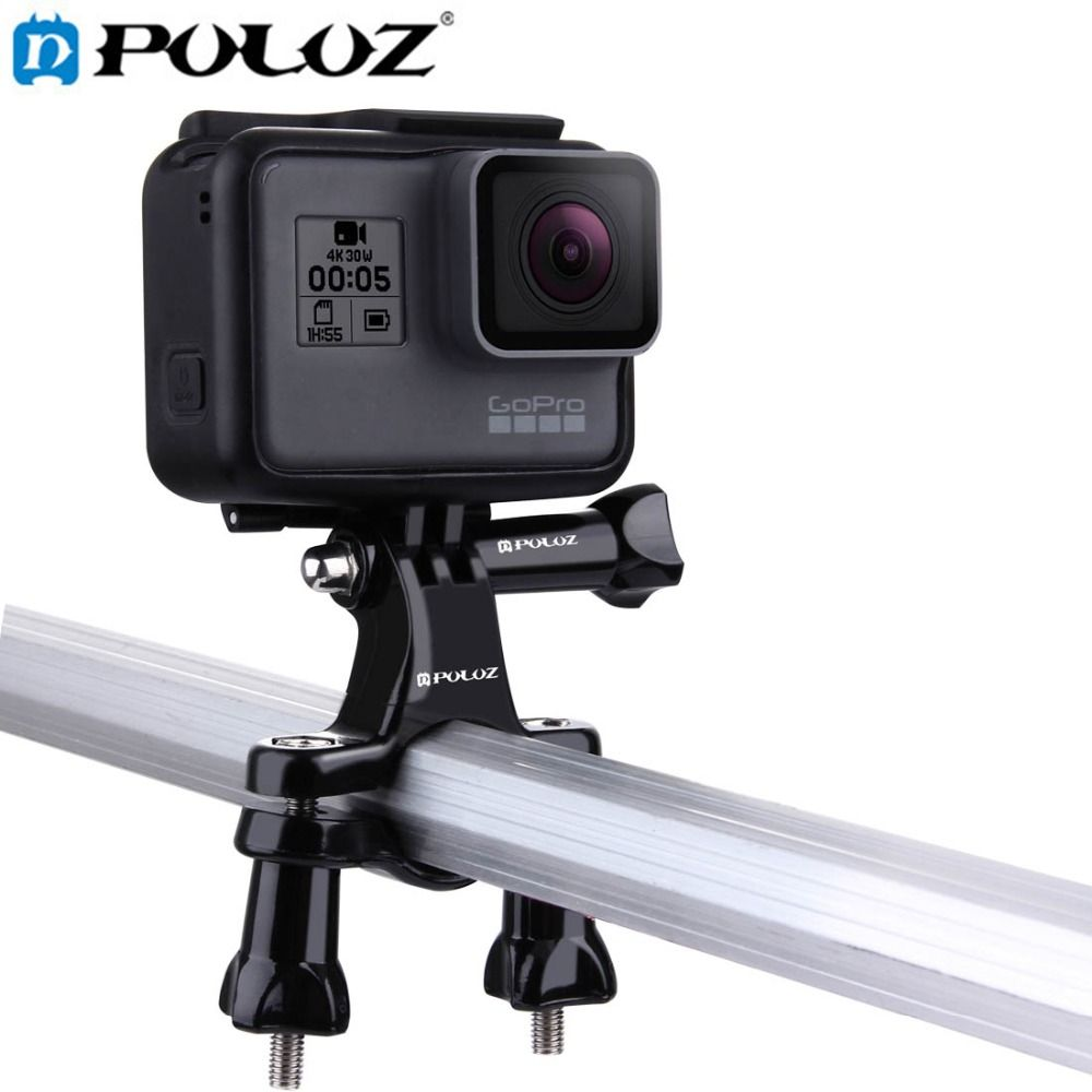 PULUZ For Go Pro Accessories Bike Motorcycle Handlebar Bar Adapter Pro Mount for GoPro NEW HERO/HERO6/5/DJI OSMO Action Camera