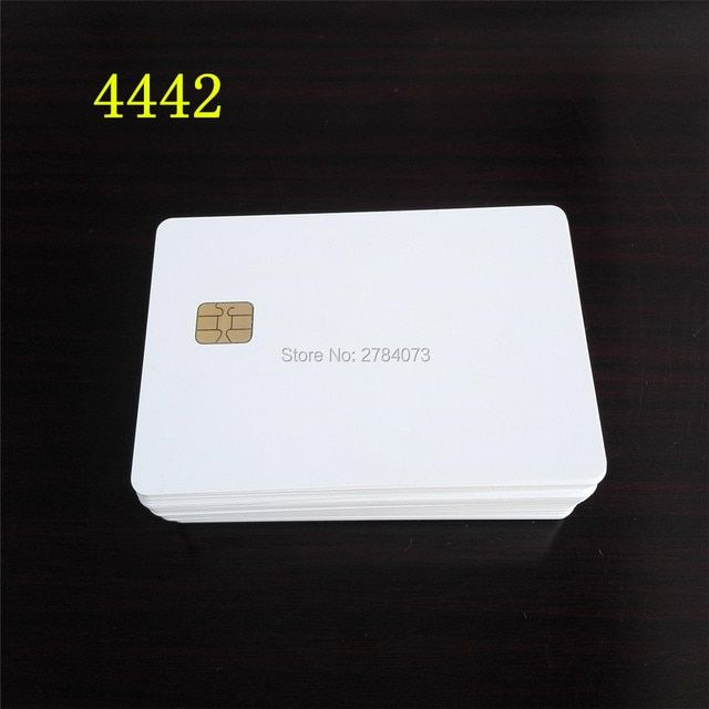 50PCS 4442 Chip Card PVC Blank White Card Free Shipping Smart Card Plastic Card