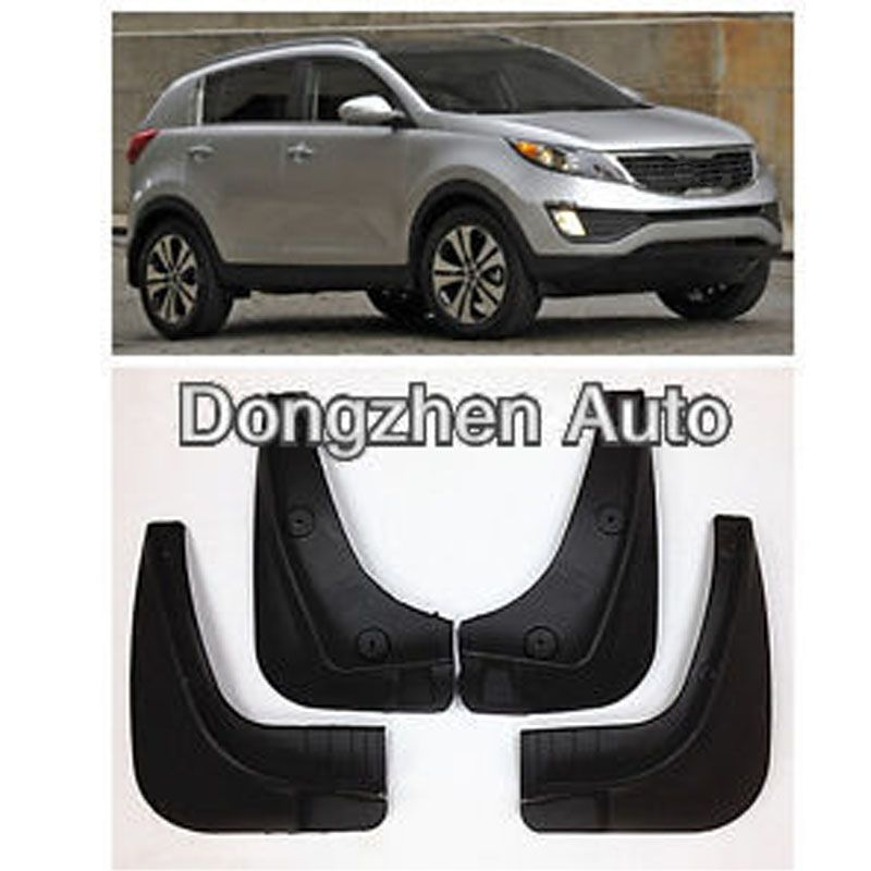 Dongzhen 4pcs Mud Flaps Splash Guard Car Kit Mudguard Mudflaps Fender For Kia Sportage R 2011 2012 2013 2014 Bottom Protection