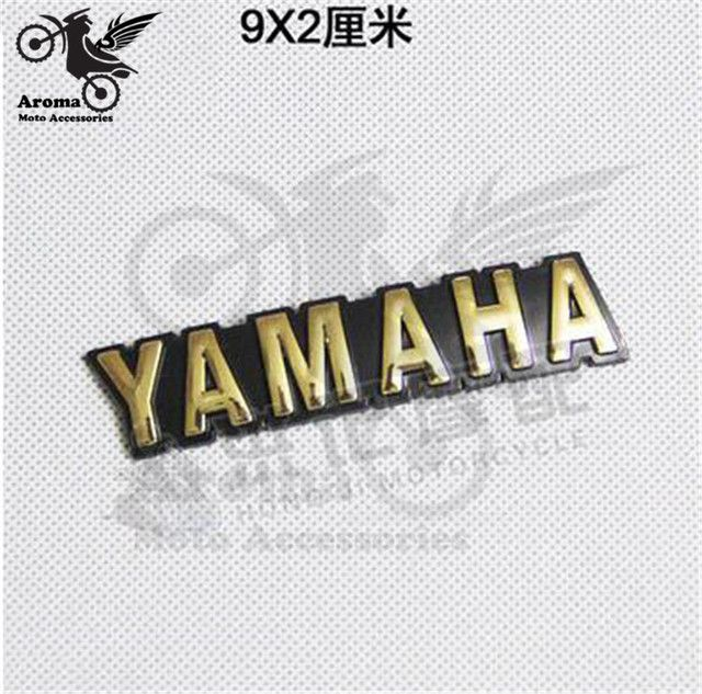 9CM*2CM motorcycle sticker for yamaha Written words motorcycle decal Emblem Badge 3D racing moto motocross Universal Off-road