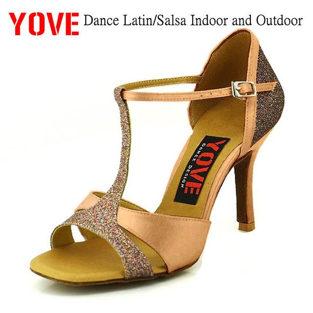 YOVE Style w136-5 Dance shoes Latin/Salsa Indoor and Outdoor Women's Dance Shoes