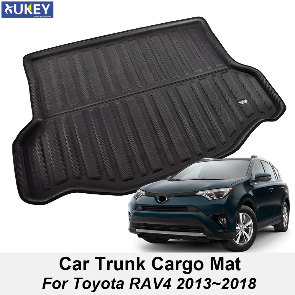 For Toyota RAV4 Boot Mat Rear Trunk Liner Cargo Floor Tray Carpet Mud Kick Protector 2013 2014 2015 2016 2017 2018 Accessories