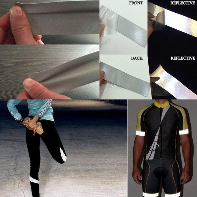 Silver Reflective Elastic Fabric with Double Side for Sports Wear