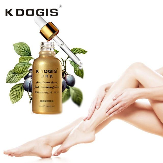 KOOGIS 30ml Leg Tighting Essence Potent Effect Lose Weight Essential Oils Thin Leg Fat Burning Natural Safety Weight Losing