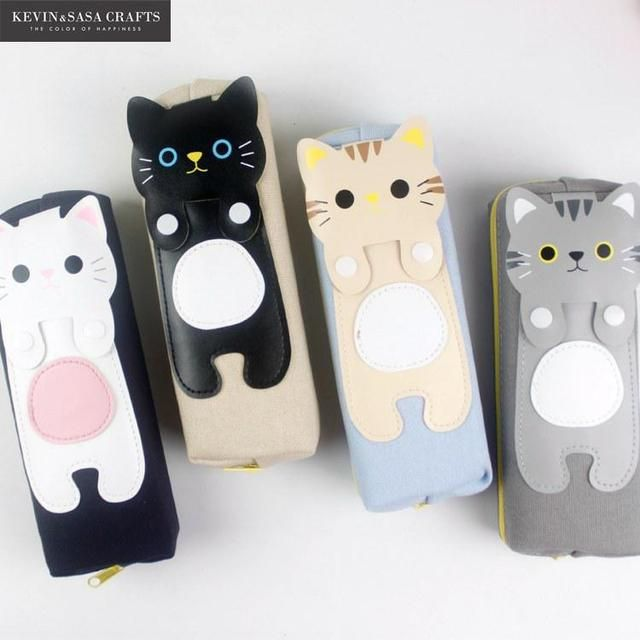 Pencil Case Kawaii Cats Pencilcase Stationery School Supplies Pencils Storage School-supplies Bts Pencil Cases School Supply