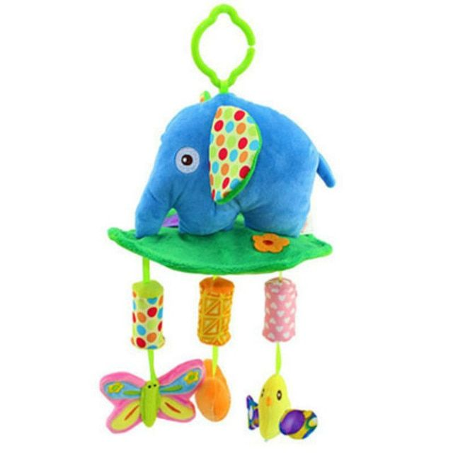 Plush Elephant musical windbell Baby toddler musical mobile toy educational Toys juguete bebes jouet Stroller Crib rattle gift