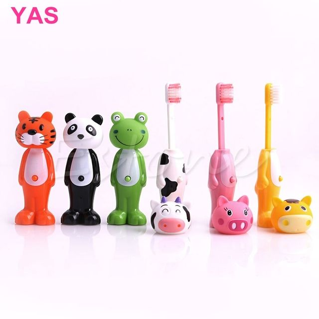 Cartoon Kids Toothbrush Children Soft Bristle Telescopic tooth Brus Mouth Clean #Y207E# Hot Sale