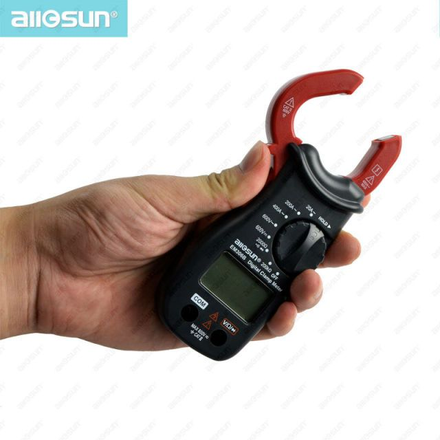 ALL SUN EM306B MINI Digital Clamp multimeter AC/DC voltage current resistance Continuity Test With Buzzer Electronic Tester