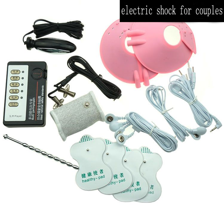 Electro Shock Sex Kits (1 Electro Host +12 Accessories) Electro Sex professional medical product Theme of elektrosex sex toys