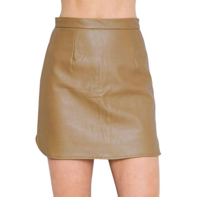 New Women Soft PU Leather Skirt High Waist Slim Hip Pencil Mini Skirts Vintage Bodycon Skirt 3 Colors