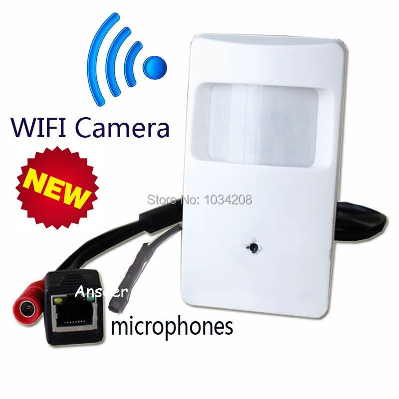 Microphone Onvif 1.0megapixel 720P WIFI Pir Motion Detector Pinhole Camera PIR Pinhole WiFi Camera PIR IP Camera Wireless