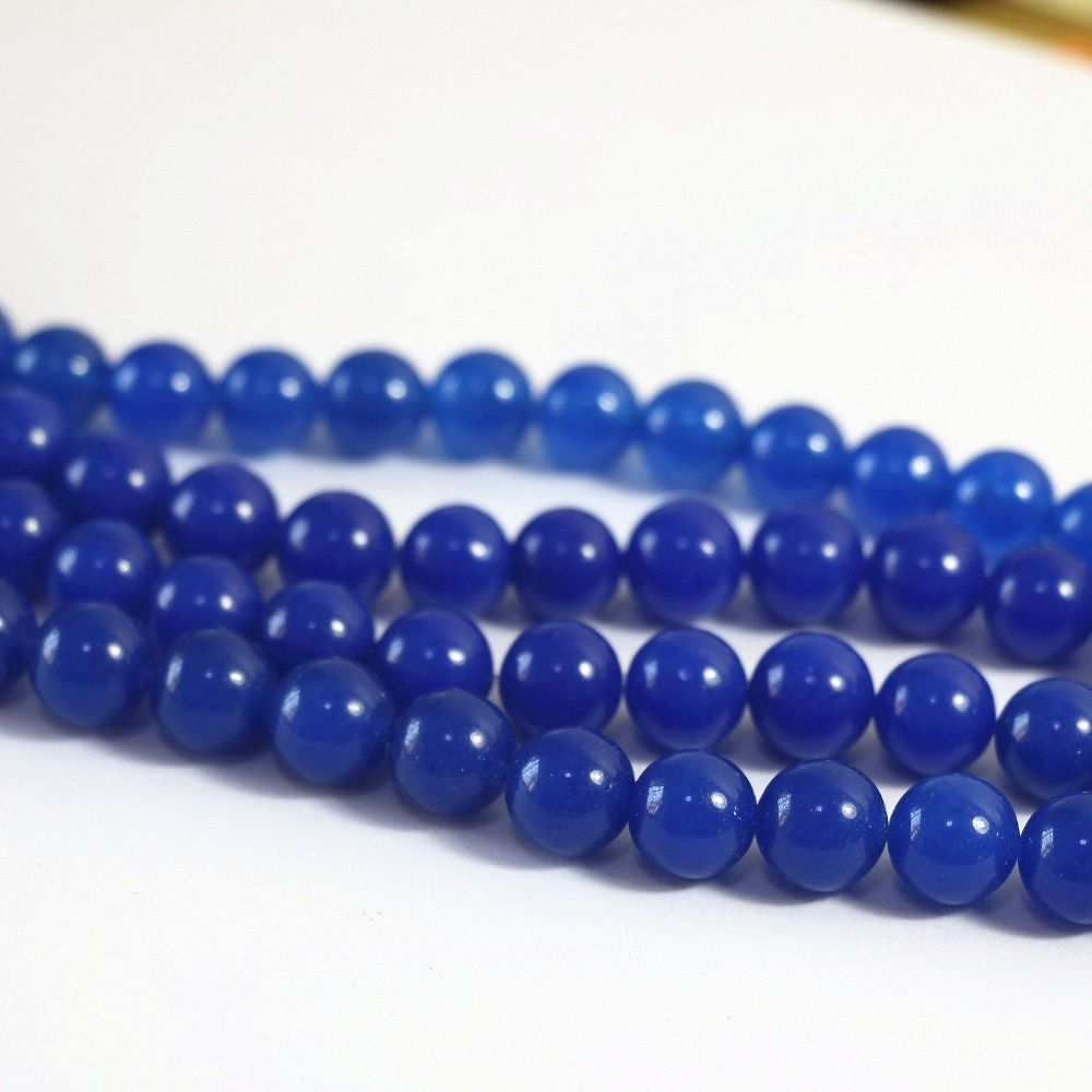 Charms new fashion Lapis lazuli stone 4mm 6mm 8mm 10mm 12mm Round Loose Beads 15 inches B27