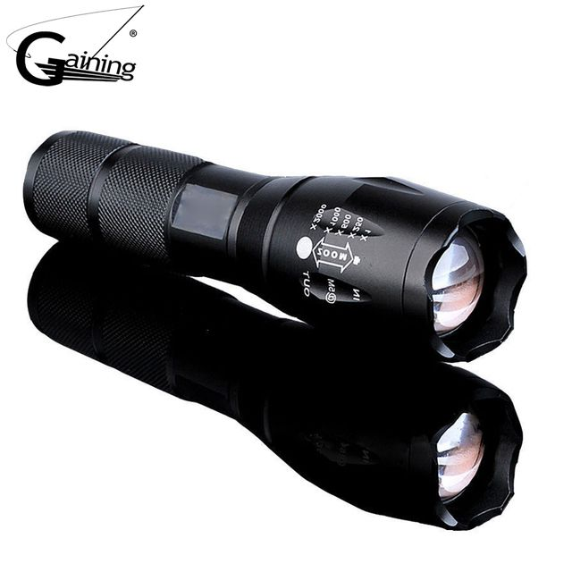 XM-L T6 5000LM Aluminum Waterproof Zoomable  LED Flashlight Torch light for 18650 Rechargeable Battery or AAA