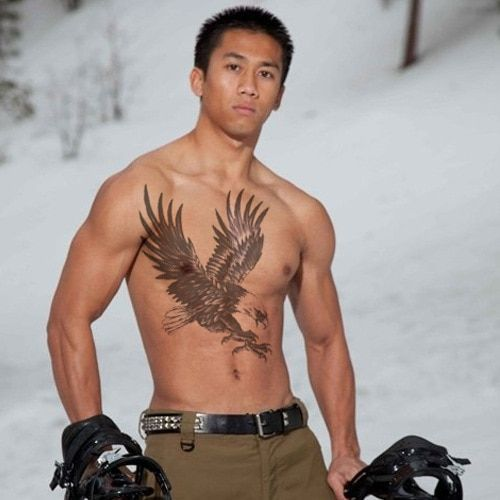 Men temporary tattoo stickers waterproof large eagle wings full back chest shoulder arm body art makeup