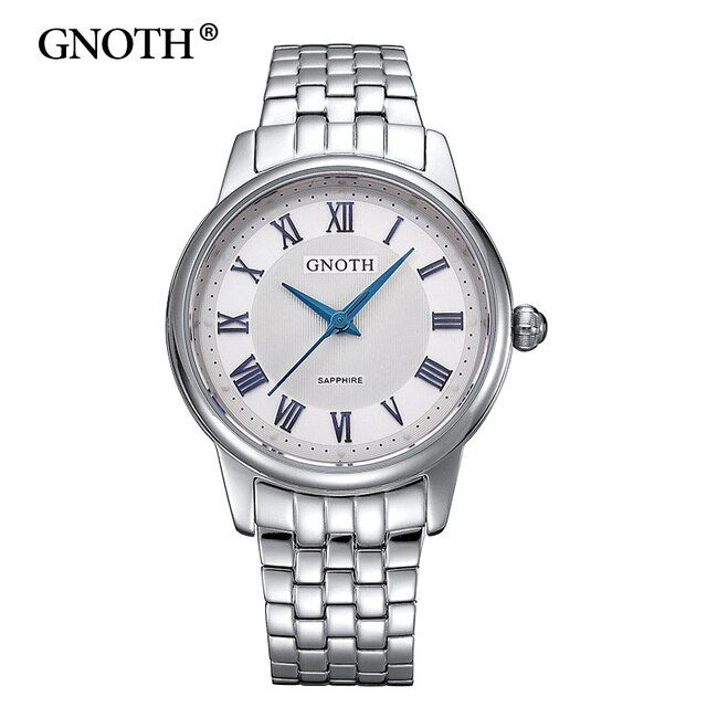 GNOTH Elegant Ladies Silver Watches 2017 New Arrival Women Watches Brand Fashion Famous Waterproof 30m Quartz Clock Hot Gift Box
