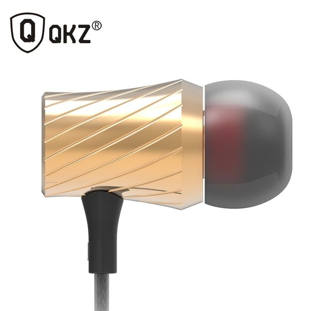 QKZ X9 Earphone Super Bass Go Pro Clear Voice Metal-Ear Earphones Mobile Computer MP3 Universal 3.5MM Headset fone de ouvido